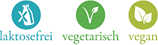 » laktosefrei, vegetarisch & vegan «